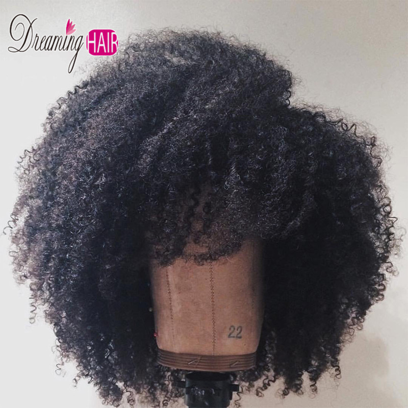 13x6 180% Density Afro Curly Wave  Lace Front Human Hair Wigs Mongolian Remy Hair Lace Wigs With Baby Hair For Black Woman Dream