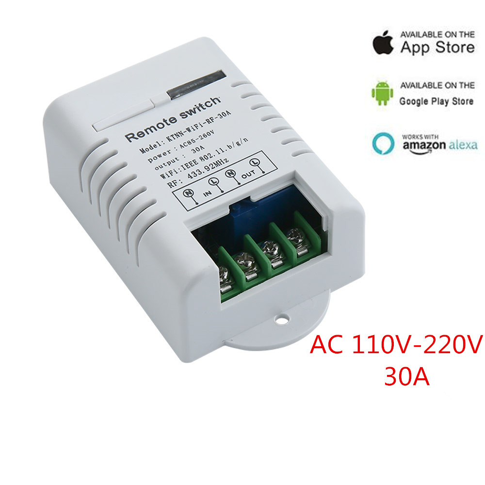 AC 110V 220V 30A APP Wifi Switch 1CH Relay automation modules Smart Home Receiver and Universal Ev1527 433MHz RF Remote Controls otis redding otis redding shake