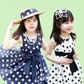 New Brand Baby Girl Dresses 2017 Summer 100%Cotton Sleeveless Sweet Dot Dress for Toddler Girls Hot Sell Kid Clothes Vestidos
