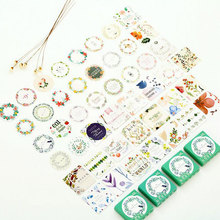 46pcs/pack Green plants mini paper stickers decoration DIY ablum Diary scrapbooking label seal Hand account sticker stationery