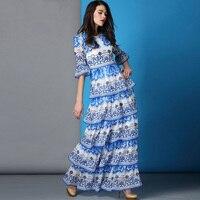 YUOCL Hot Sale Vestidos 2016 New Fashion Women Summer Dress Print Long Maxi Dresses Beach Dress