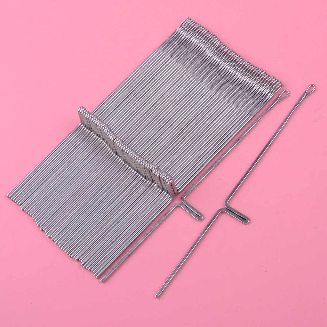 50pcs Knitting Machine Needles Fit For Silver Reed Studio Singer Empisal Knitmaster Ribbing Attachment SRP50 SRP60 SRP60N