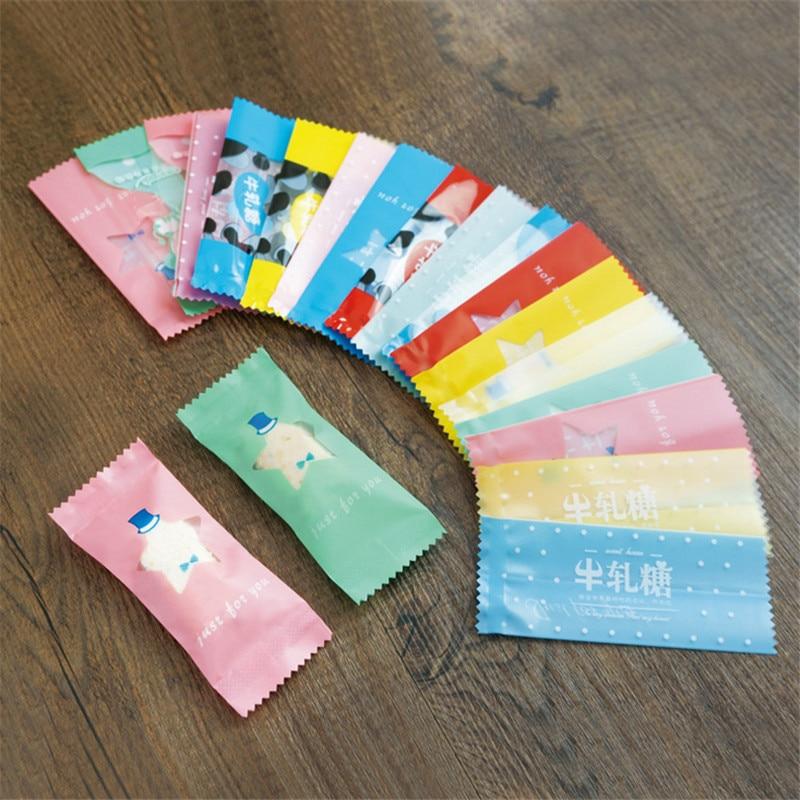 200 Pcs/Lot points blancs bricolage à la main Nougat bonbons emballage sac lait bonbons Taffy emballage alimentaire Mini sac
