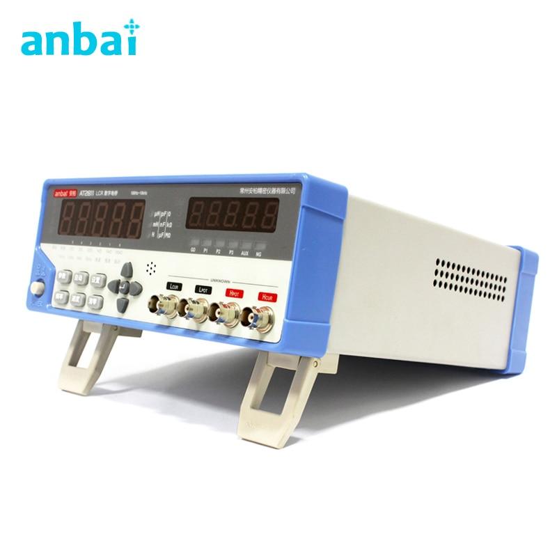 AT2811 bureau précision LCR compteur fréquence 100Hz 120Hz 1 kHz 10 kHz numérique pont LCR Test