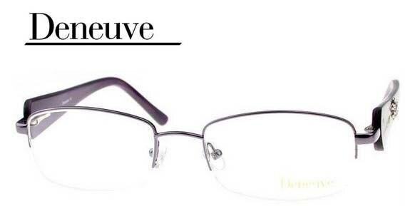2016 new design fashion lady style half rim eyewear frames, golden optical eyeglasses with flower pattern DN4427