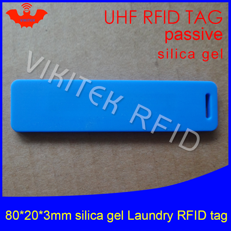 UHF RFID tag laundry soft silica gel Washable heat resisting 915m 868m 860-960M Alien H3 EPC Gen2 6C long range passive RFID tag 500pcs rfid one off coated paper wristbands tag epc gen2 support alien h3 chip used for personnal management