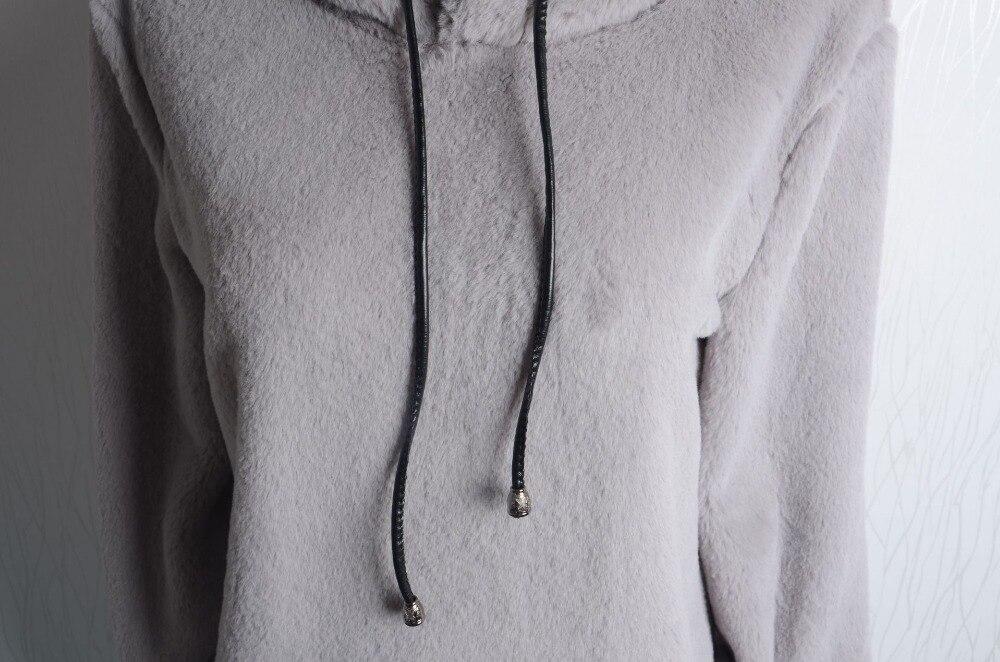 Felpa Lady multi Invernale Cappotto Tshirt Di Larghi Grigio Abiti Ragazza Cashmere E Spessore rwqIr87O