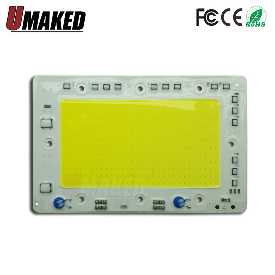 150W 160x100mm LED COB Lamp Integrated High Power Light AC220V 110V Lamps With Smart IC Driver floodlight White / Warm White