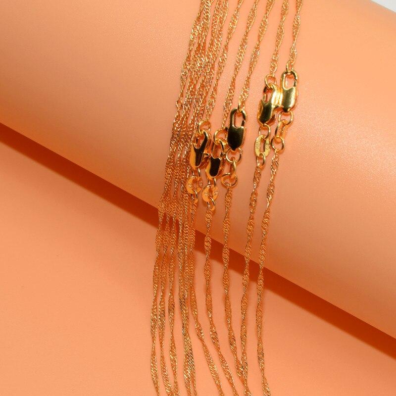 10pcs Wholesale Gold Filled Necklace Fashion