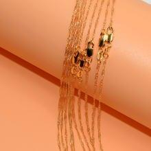Цепочка с подвеской длиной 2 мм 16 30 дюймов 10 шт
