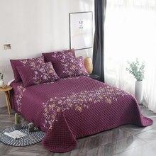 Purple Blue High Quality Snow Velvet Cotton Comfortable Soft Thick Blanket Bedspread Bed sheet/Linen Pillowcases 240X250cm 3pcs