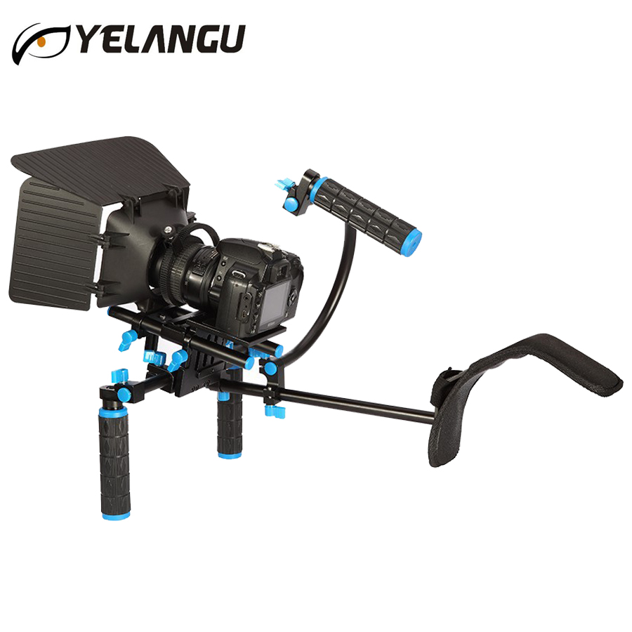 DSLR Rig Camera Shoulder Stabilizer Movie Film Support Kit Follow Focus Matte Box for Canon Nikon Sony GH4 Video Camcorder купить