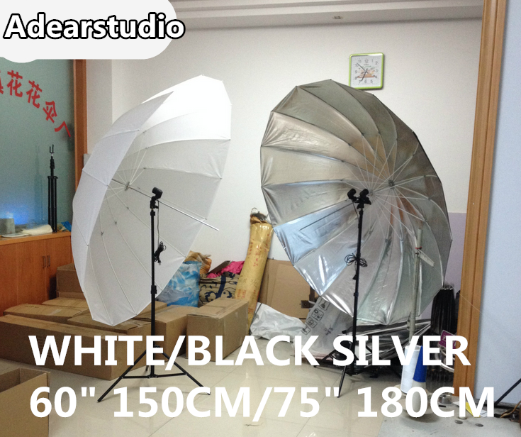 Photographic equipment black silver umbrella Studio umbrella reflective umbrella 150CM 16K high-grade fiber umbrella NO00DC зонт phottix reflective studio umbrella 152cm silver black 85335