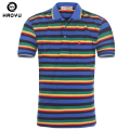 Hot Sale Mens Polo Shirt Brands Famous Men's Clothing 2016 New Arrival Polyester Striped Short Sleeve Camisas Polo Free Shipping