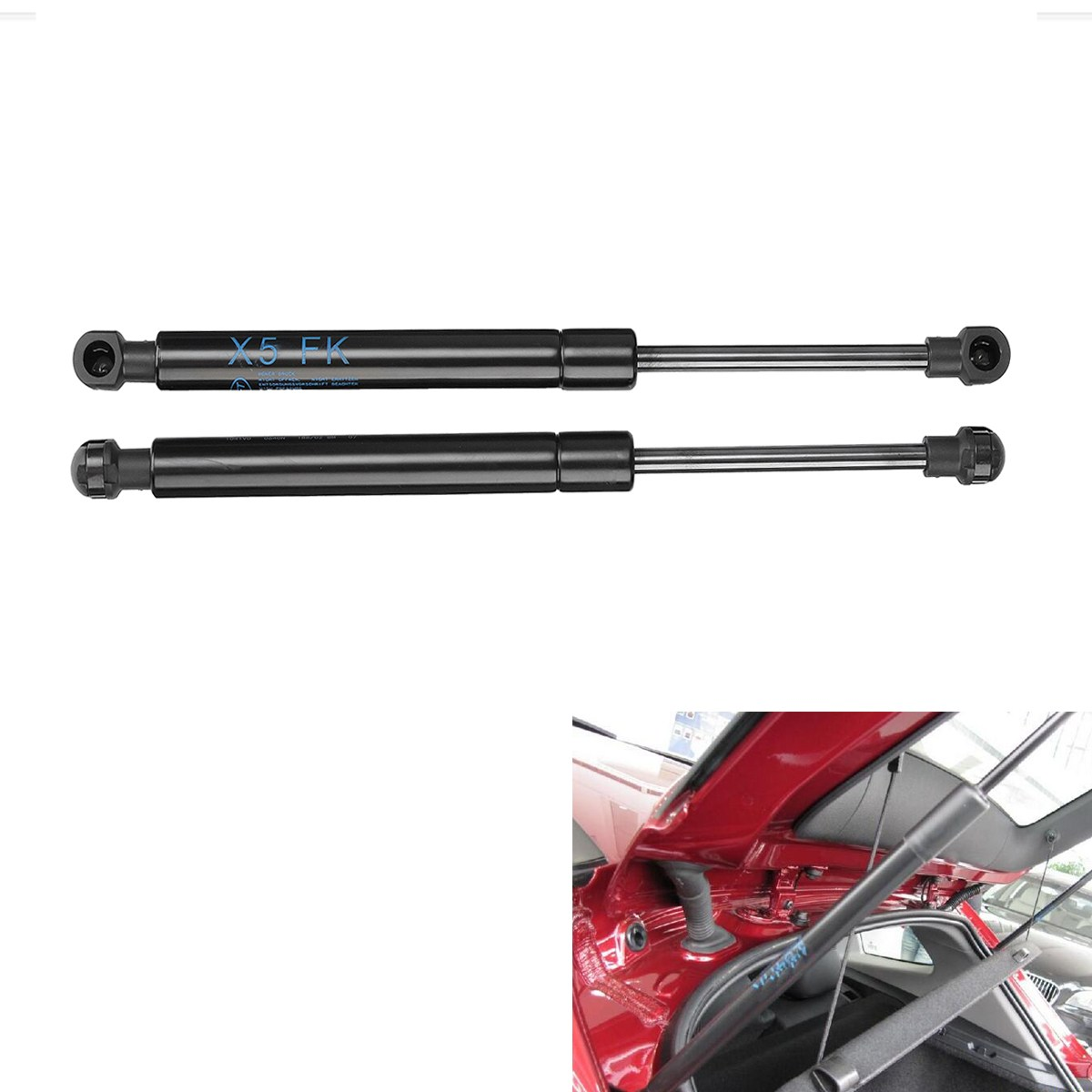 2 sztuk Hood podnieś wsparcie rozpórki amortyzatory Prop Rod dla BMW X5 E53 2000-2006