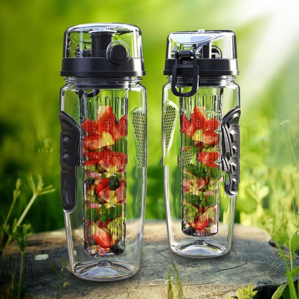1000ml/32oz Outdoor Fruit Infuser Water Bottles Tour Sports Anti Slip Fruits  Water Bottles Lemon Reusable Tritan Fruits Bottles|Water Bottles| -  AliExpress