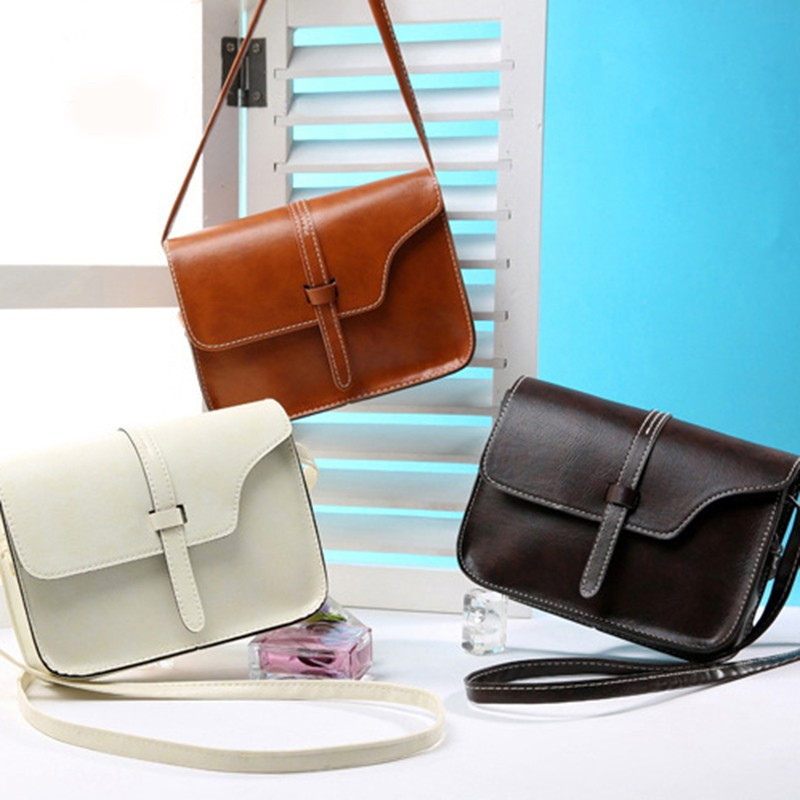 Women Messenger Bags Fashion Mini Flap Bag Shoulder Vintage PU Leather Female Crossbody Handbag