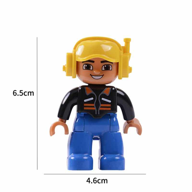 Legoing Friends Duploe Family Action Figures Blocks Character Friends Duploed Figure Animals Train Building Blocks Toys Legoings