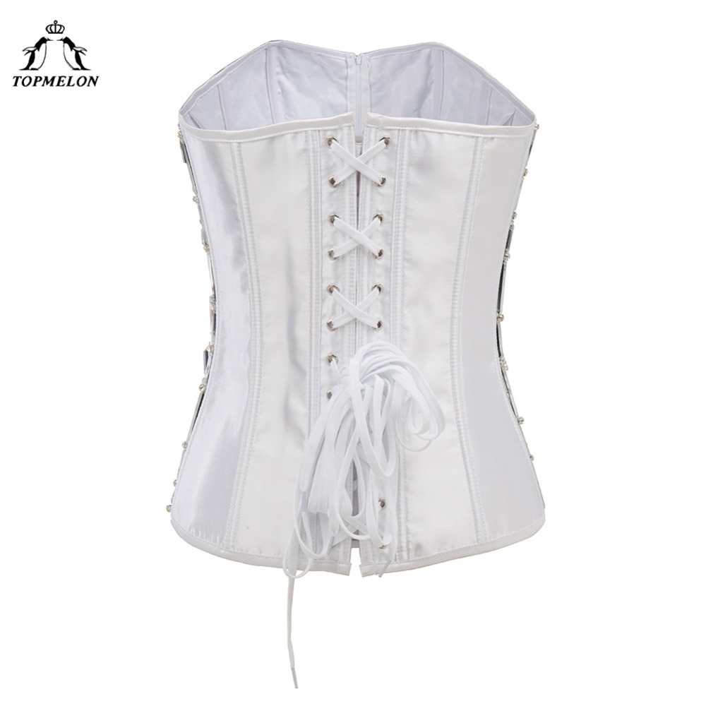 TOPMELON Sexy Corset Steampunk Bustier Modeling Strap Gothic Corselet  Corset Women Fashion Sequined Plaid Party Club Corset Tops-in Bustiers    Corsets from ... 07d88eb08a