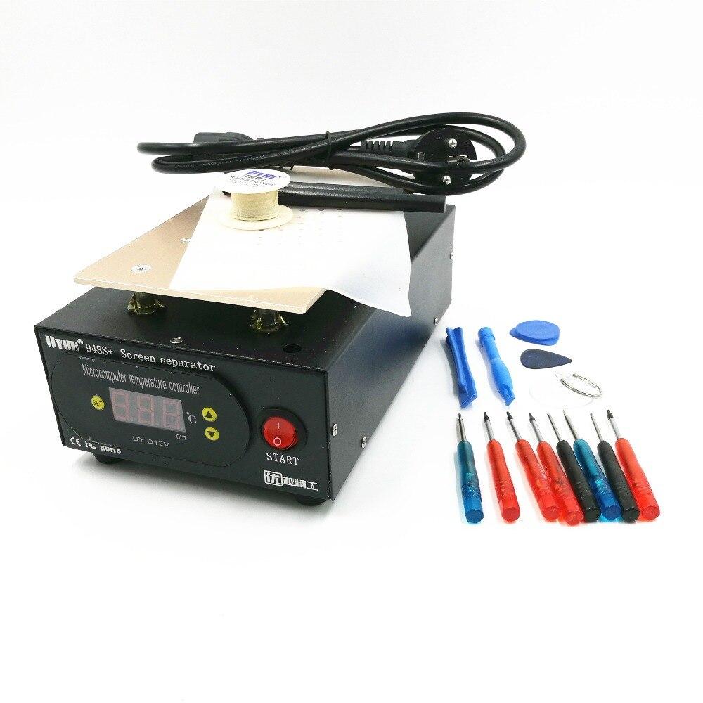 LCD Separator Machine Build-in Pump Vacuum Screen Repair Machine Kit For Smart Phone Refurbish 948S+ With Phone Disassemble Tool
