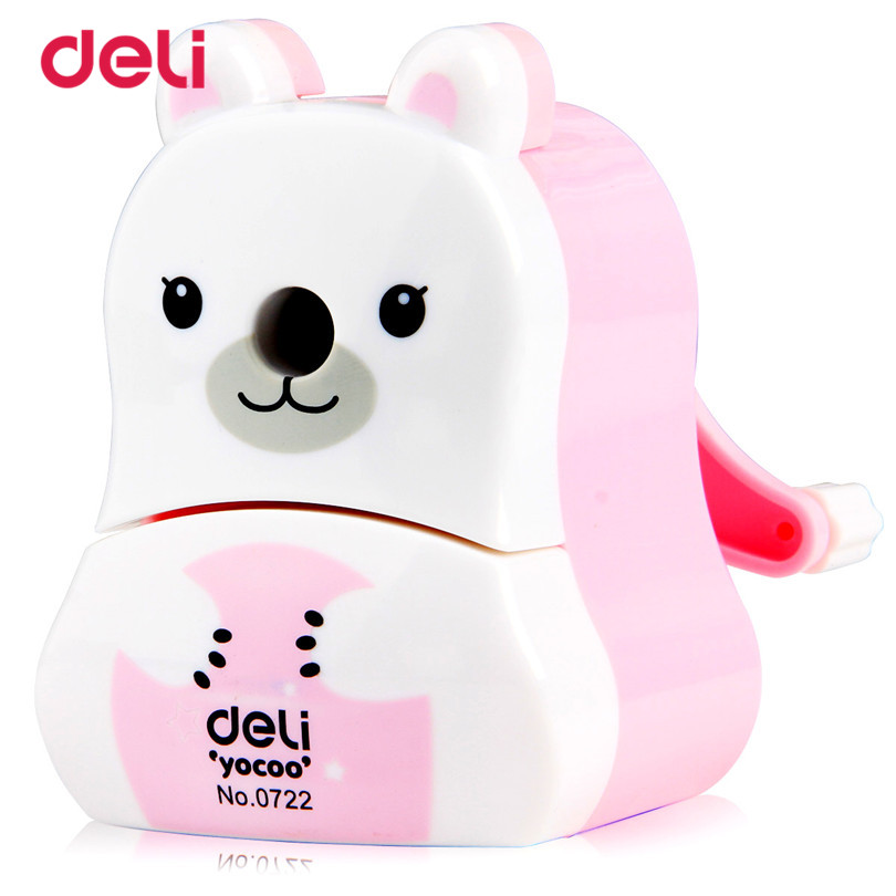 Deli 0722 Cute Pencil Sharpener Stationery mechanical Pencil school & office supplies Cartoon Hand Pencil Sharpener Brands deli stationery pencil sharpener mechanical cartoon kawaii pencil sharpener cute pencil sharpener office & school supplies