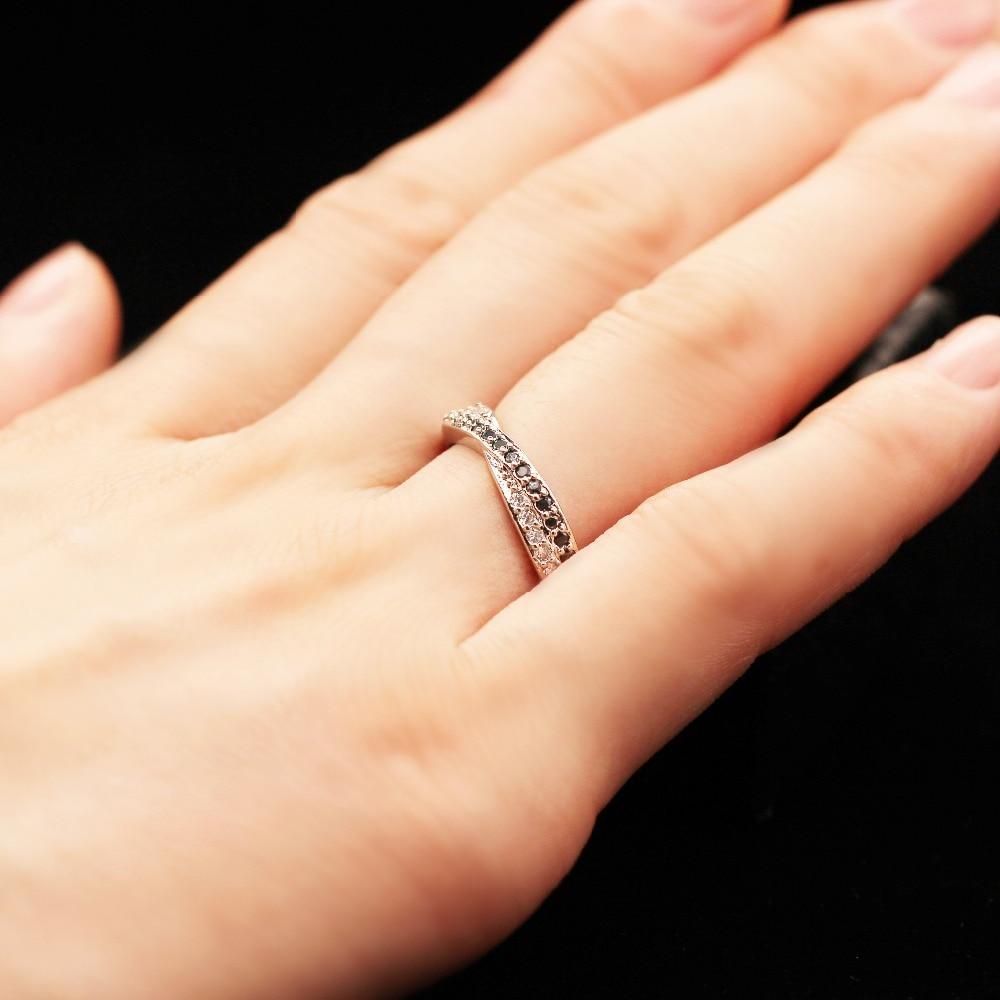 Almei μαύρο ασημένιο δαχτυλίδι χρώματος - Κοσμήματα μόδας - Φωτογραφία 4