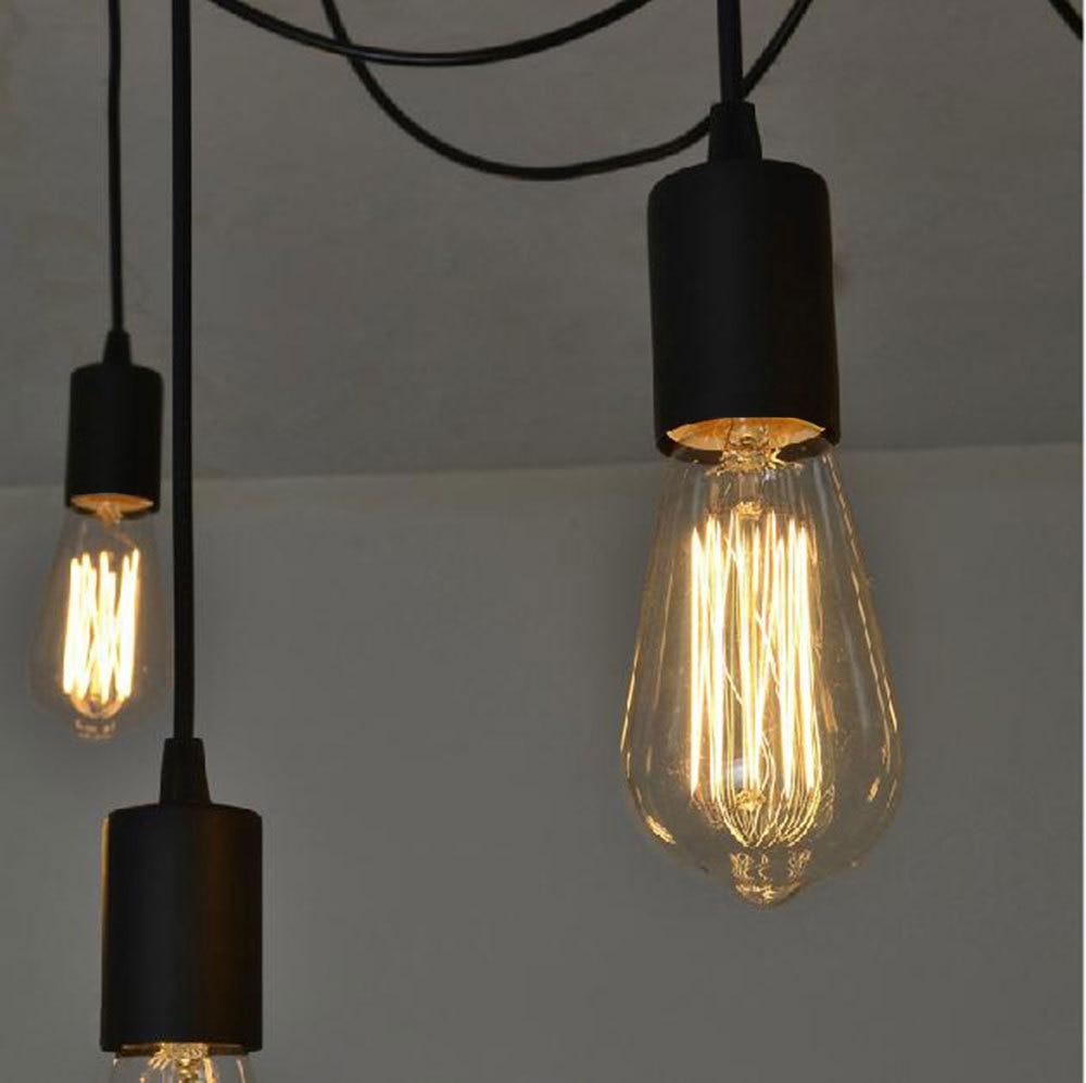 retro lighting pendants. Lighting Industrial. Antique Classic Ajustable Diy Ceiling Spider Lamp Light Retro Chanderlier Edison Pendant Lights Pendants O