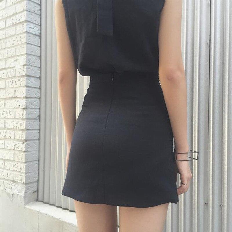 HTB1RB6HOFXXXXcIXXXXq6xXFXXXr - Women Black Mini Skirts Lace up PTC 39