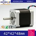 5.0kg.cm 70 oz.in 42MM 2phase Hybrid High Torque Nema17 2.5A Micro arduino Stepper Motor 3D Printers Step Motor Free shipping