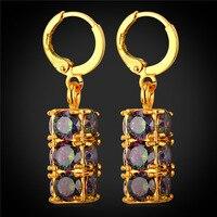 AAA Cubic Zirconia Crystal Earrings For Women Wedding Jewelry Gold Color Drop Earrings 2016 New E1958