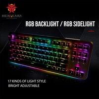 HEXGEARS GK757 Kailh Box Switch Mechanical Keyboard 87 Key Keyboard PBT Keycap RGB Backlight Mechanical Gaming Keyboard
