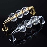 96mm Modern Fashion Deluxe Glass Crystal Furniture Handles Silver Golden Win Cabinet Drawer Pull Knob Villadom