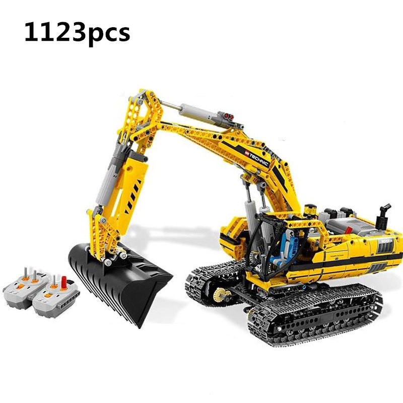 New LEPIN City 20007 Technic Series 1123pcs Excavator Model Building Blocks Bricks Compatible Toy Gift 8043 Educational Car Bb8 new lepin 21003 series city car beetle model educational building blocks compatible 10252 blue technic children toy gift