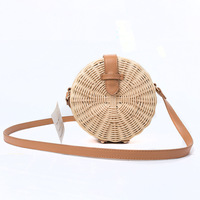 2018 New Women Straw Bag Bohemian Bali Rattan Beach Handbag Small Circle Lady Vintage Crossbody Handmade