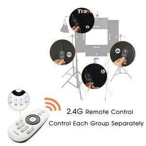 Image 5 - Travor להגמיש Headshot וידאו אור צילום תאורה ניתן לעמעום כוח גדול 100 W 5500 K CRI95 עם 2.4G אלחוטי מרחוק שליטה