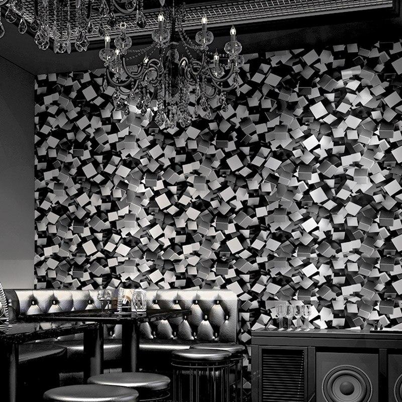 KTV Wallpaper Modern 3D Abstract Geometric Mosaics Wall Paper PVC Waterproof Theme Hotel Clubs Background Glitter Wall Coverings large mural wallpaper wallpaper theme hotel theme hotel bar club star monroe ktv