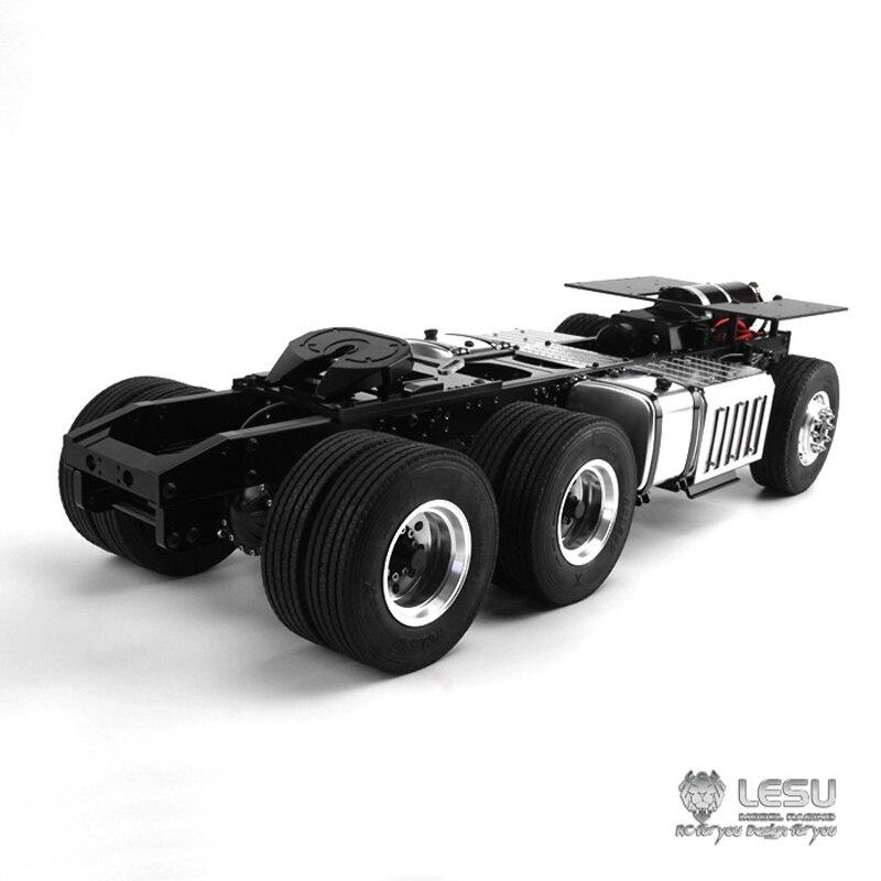 1/14 camion Benz3363 1851 entraînement complet 6X6 tracteur châssis en métal cadre couple élevé modèle LS-20130016-B RCLESU Tamiya tracteur