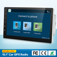 1024 600 Quad Core 2G 10 1 Inch Double 2 Din Android Car Radio Bluetooth Stereo