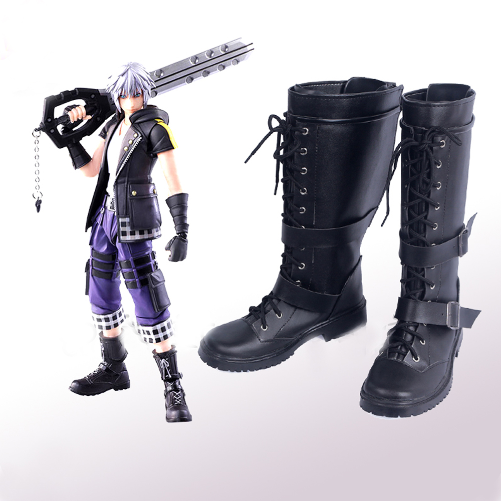 Kingdom Hearts III Bring Arts Riku Cosplay Shoes Boots Superhero Halloween Carnival Party Costume Accessories Props