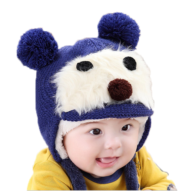 Children Winter autumn ear muff hat crochet baby hat for Girls Boys photography props costume Accessories Hat Knitted baby caps