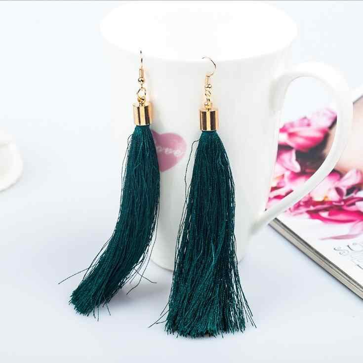 1 Pairs Chất Lượng Cao 12 Màu đen hoa tai tua cổ điển dài bông tai hoa tai lớn fashion earrings quà tặng đối với phụ nữ jewelry