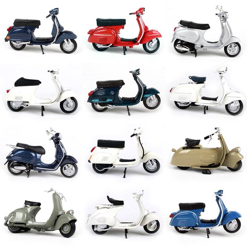 118 piagem vespa liga motocicleta diecast, modelo de brinquedo para crianças, presente de aniversário, brinquedos, coleção, caixa original