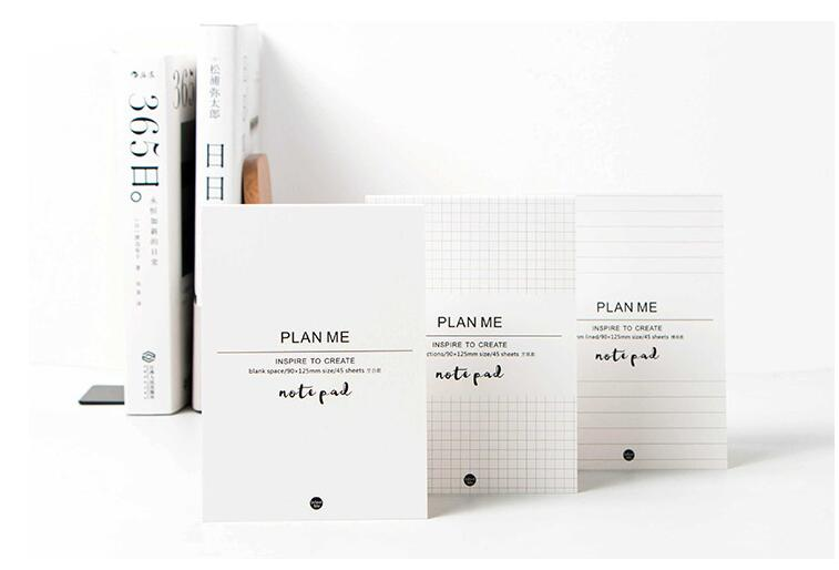 Plan Me Brief Theme Pocket Memo Paper Pad 9*125cm Blank/Lined/Blank - lined blank paper