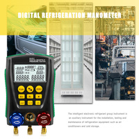DY517 Digital Manifold Pressure Gauge Refrigeration Digital Vacuum Pressure Manifold Tester Meter HVAC Temperature Tester