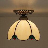 American Style Simple Glass LED Bathroom Ceiling Lamp Corridor Aisle Ceiling Light Plafon led para techo Bedroom Balcony Lamp