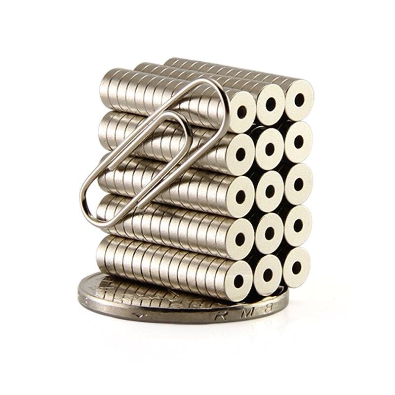1000 pièces 2000 pièces Anneau 5x1.5mm avec des aimants de trou de Diamètre 5mm x 1.5mm N50 Néodyme Aimant Terre Rare