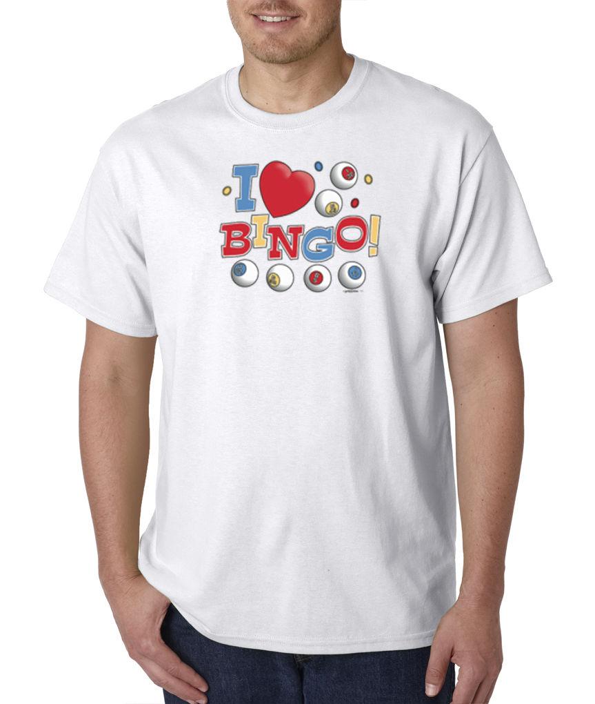 Cheap Tee ShirtsZomer Men O-Neck Short-Sleeve I Love Bingo Gambling Winner Game T-Shirt Sz S To 3XL T Shirts