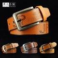 Correa masculina Cinturón de Marca para Los Hombres de Alta Calidad Genuina Pin Cinturón de hebilla de Cinturón de Hombres Vaqueros Ocasionales de La Vendimia vaca Del Estilo del Negocio genuino