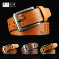 strap male Brand Belt for Men High Quality Genuine Pin Buckle Belt Men Vintage Casual Jeans Belt Business Style cow genuine