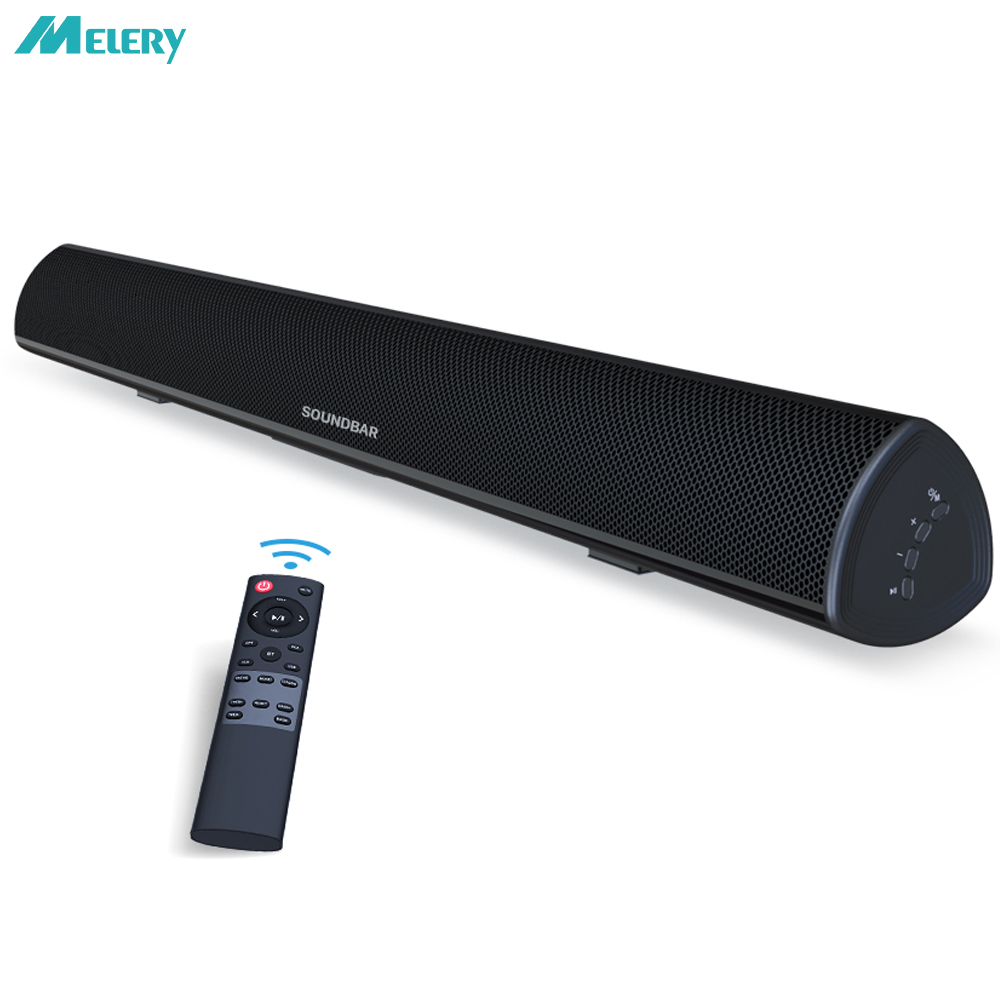 TV Barre de Son bluetooth sans fil Filaire haut-parleurs de home cinéma Système 80 W 3D Surround 105dB Audio télécommande Montage Mural
